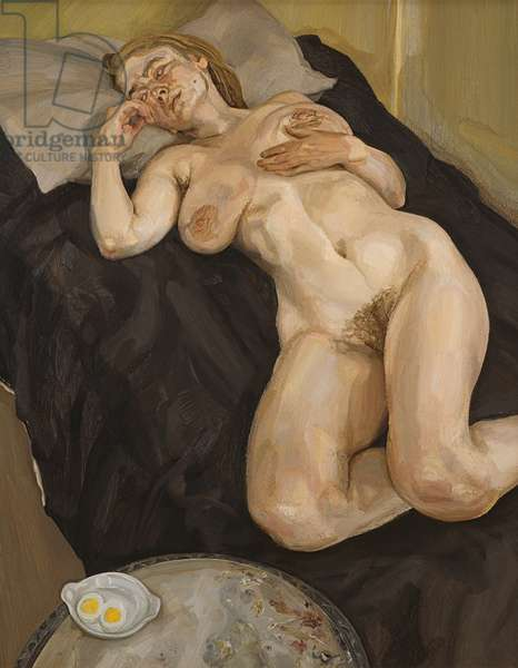 Naked Girl with Egg, 1980/81 (oil on canvas)