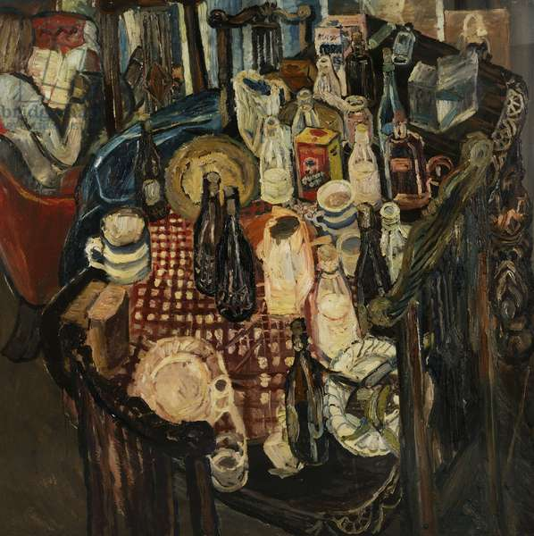 Table Top, 1955 (oil on board)