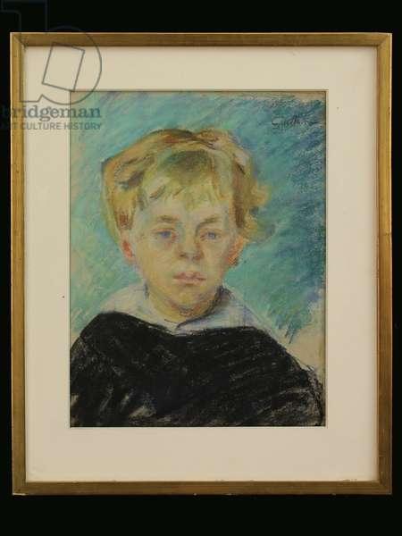 The Artist's Son, c.1910 (chalk on paper)