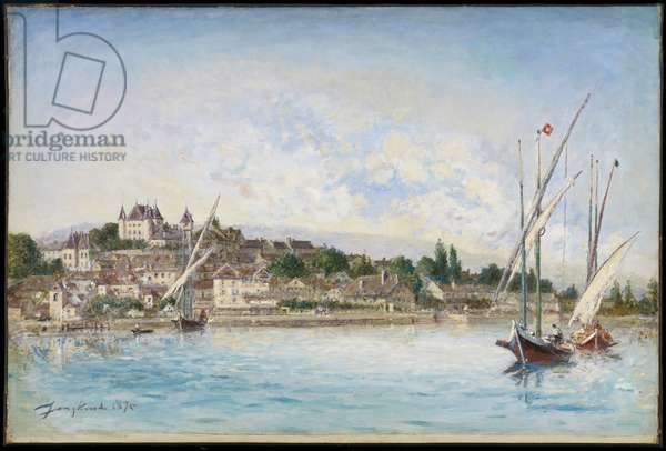 Landscape from Lake Leman to Nyon, 1875 (oil on canvas)