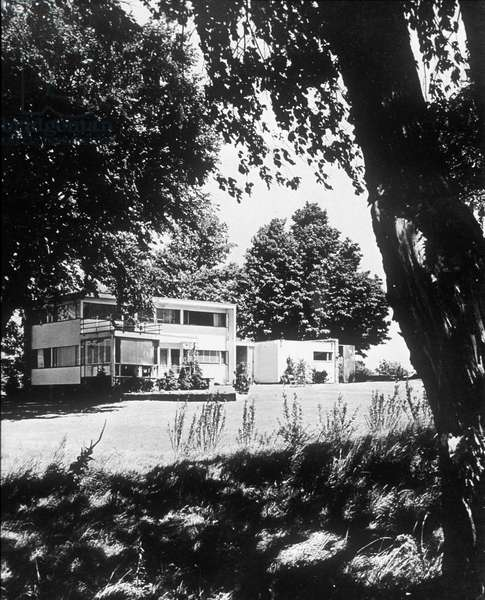 Abele House in Framingham (Massachussetts) built by Walter Gropius in 1941 (Bauhaus style)