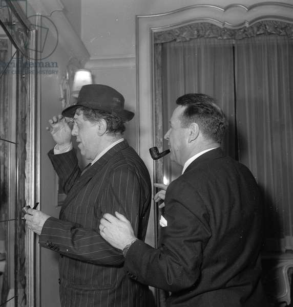 Michel Simon and Georges Simenon, 1952