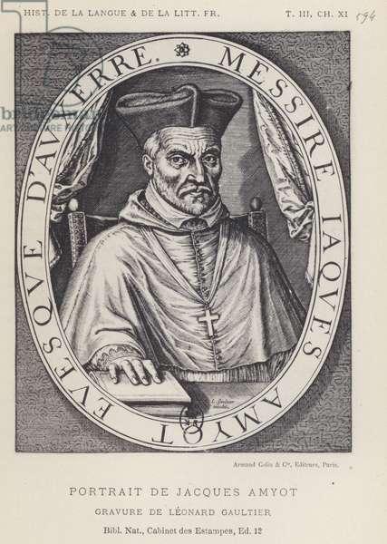 Portrait De Jacques Amyot (litho)