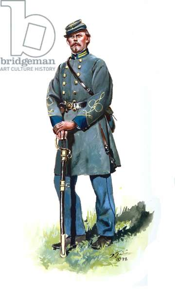 Confederate Infantry Officer, 1997 (w/c & gouache on paper)