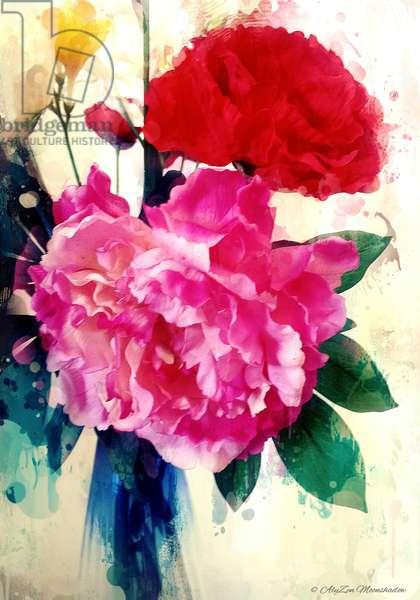 Peony and Poppy, 2014 (digital mixed media phoneography)