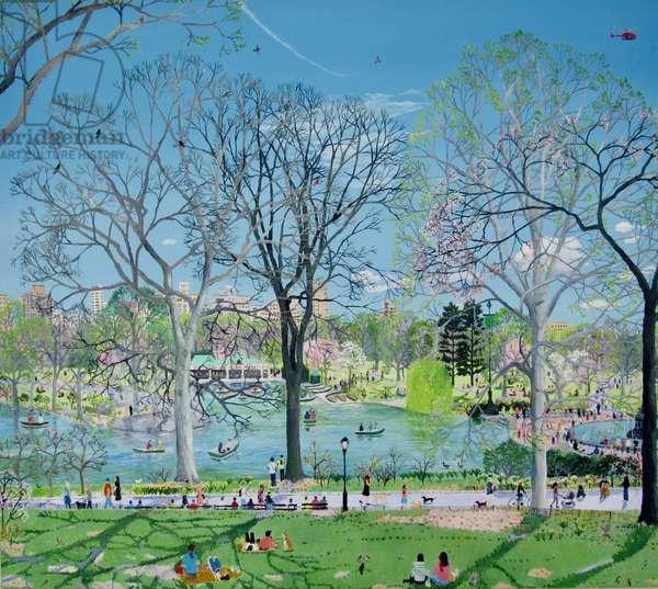 Central Park spring, 2019, (oil on canvas)