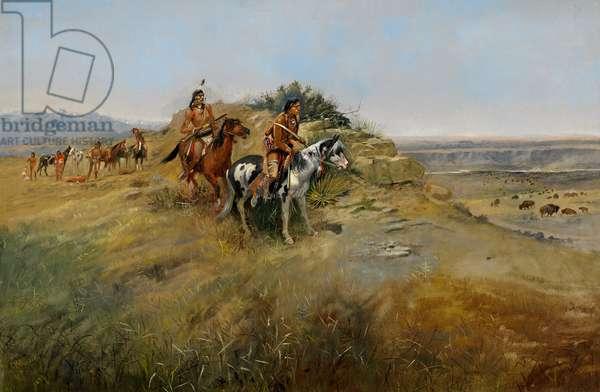 Buffalo Hunt, 1891 (oil on canvas)