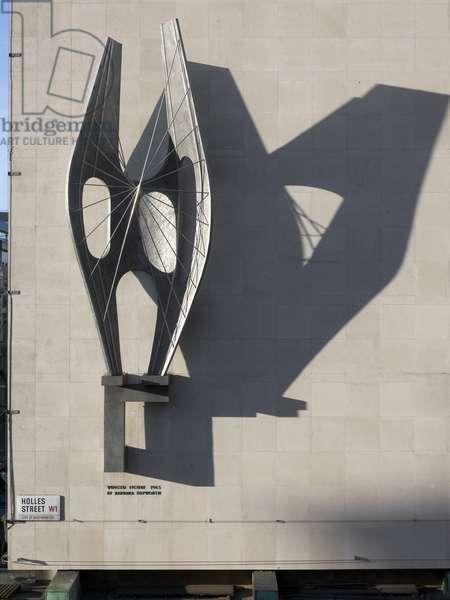 Winged Figure by Barbara Hepworth, John Lewis Departmant Store, Oxford Street, Marylebone, Greater London, UK (photo)