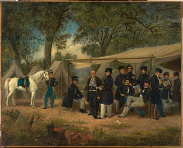 Zachary Taylor at Walnut Springs, 1847 (oil on canvas mounted on wood)