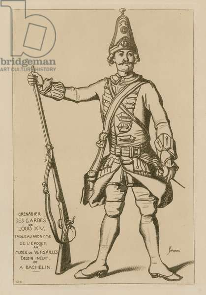 Grenadier of the guards of Louis XV (engraving)