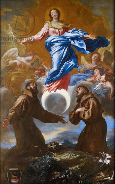 The Immaculate Conception with Saints Francis of Assisi and Anthony of Padua, 1650 (oil on canvas)