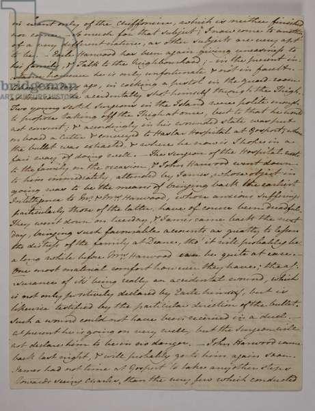 Letter from Jane Austen to her sister Cassandra, 89 November 1800