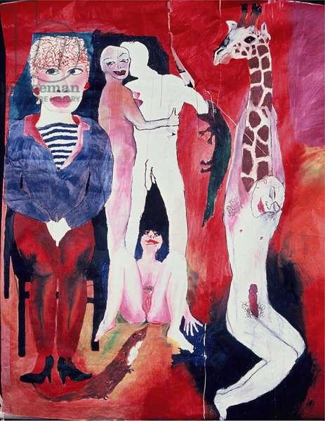 Animal fantasy, 1983 (oil sticks on board)