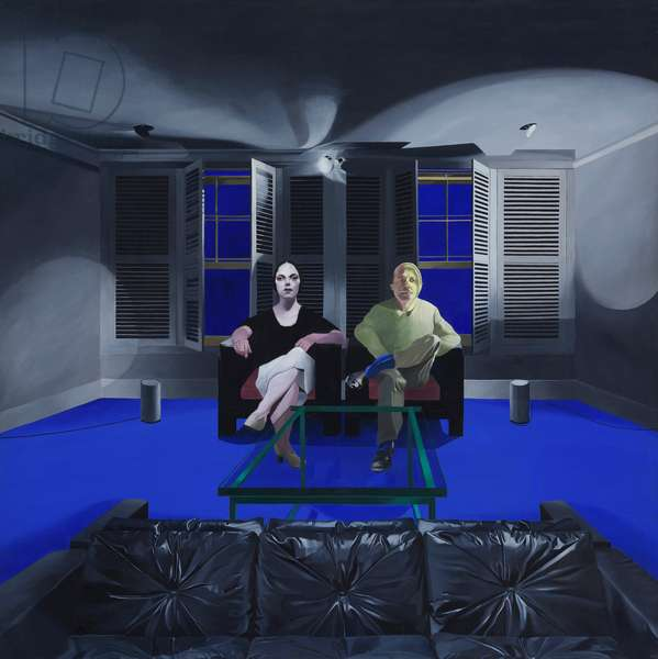 Man and Woman II, 1968-69 (oil on canvas)