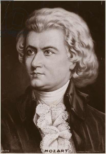 Portrait of Wolfgang Amadeus Mozart (litho)