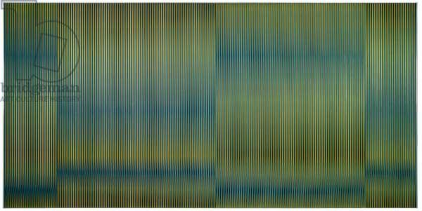Physichromie 870, Caracas, 1976 (silkscreen on aluminum, plastic inserts)