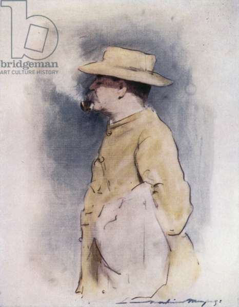 Rudyard Kipling (colour litho)
