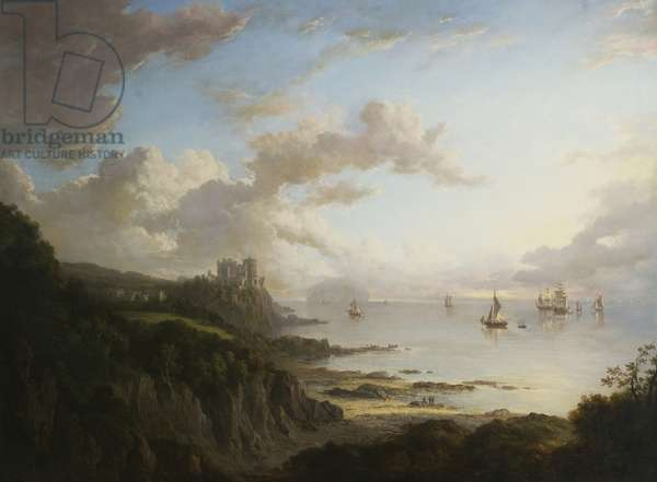 Culzean Castle from the North with Ailsa Craig, c.1816 (oil on canvas)