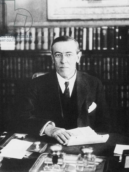 WOODROW WILSON (1856-1924) 28th President of the United States. Photographed while Governor of New Jersey, 1911.