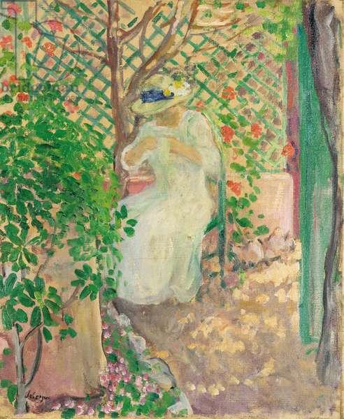 Marthe Lebasque dans la Gloriette (oil on canvas)