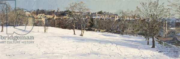 Morning Light on Snow, the Golf Course, January 2010 (oil on canvas)