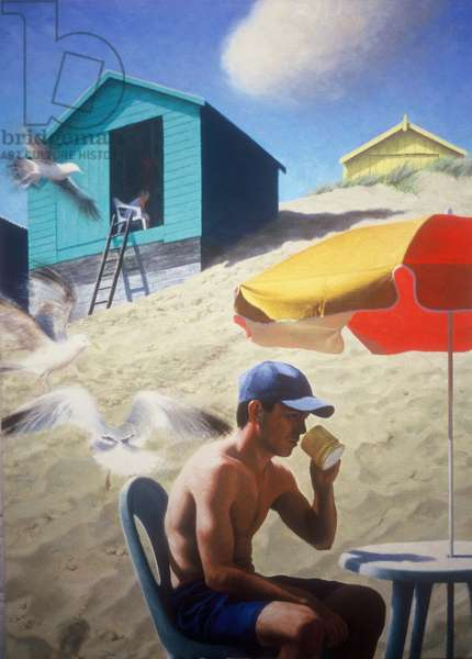 Day by the beach huts