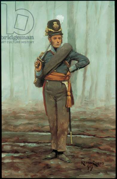 Officer: 7th Belgian Line Battalion 1815, 1999 (oil on board)