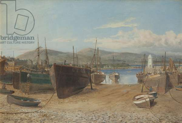 Port St Mary Harbour, 1905 (oil on canvas)