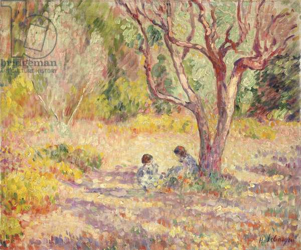 Games in the Shade of the Garden; Jeux a L'Ombre du Jardin, c.1906-1907 (oil on canvas)