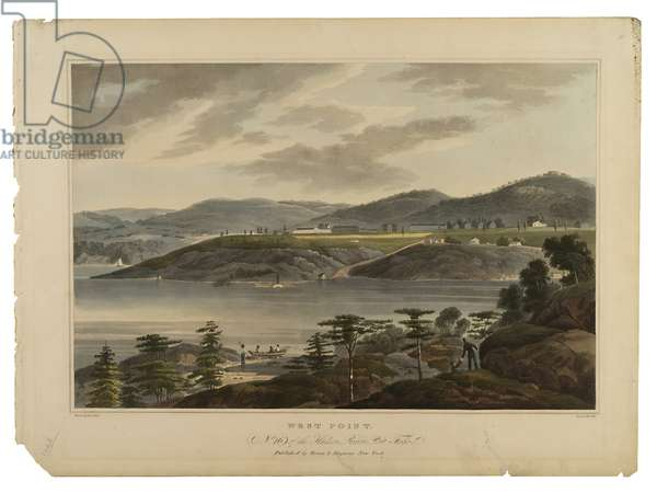 West Point, No. 16 of the Hudson River Port-Folio, engraved by I. Hill, undated (engraving)