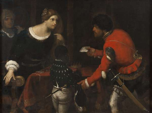 Caterina Cornaro, Queen of Cyprus, Receiving a Letter from the Council (oil on canvas)
