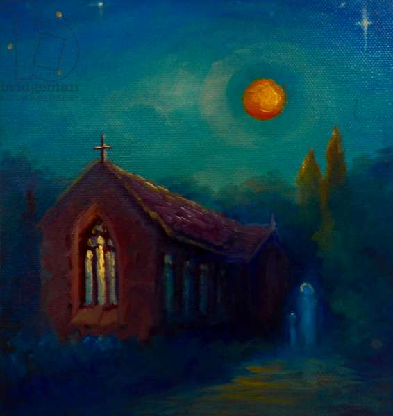 Night Moves II, 2019, (oil on canvas)