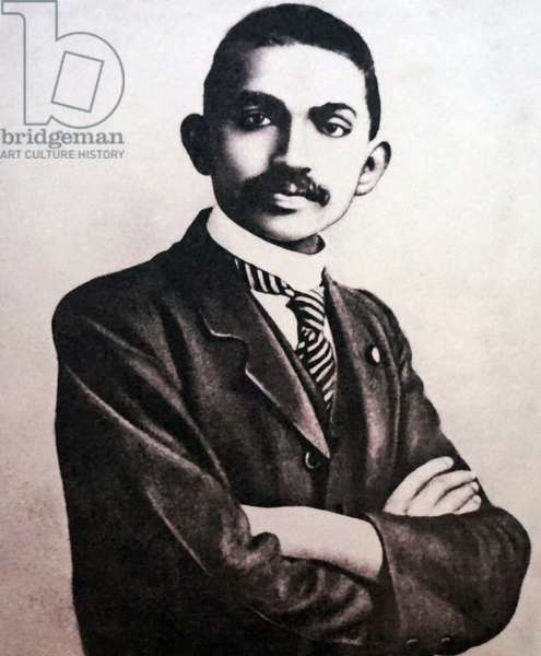 Mahatma Gandhi at his attorney legal practice office at Johannesburg, South Africa, South Africa