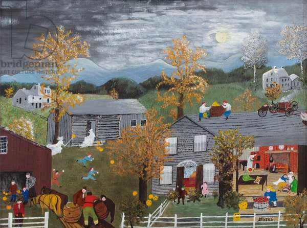 Halloween, 1955 (oil on pressed wood)