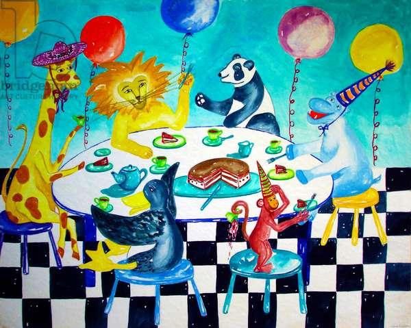 Animal Birthday, 1996, (watercolor)