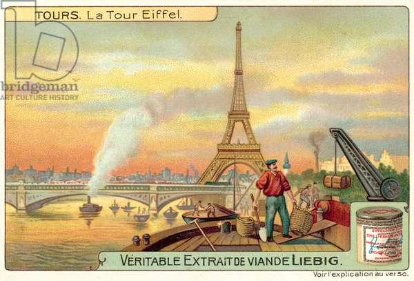 The Eiffel Tower, Paris (chromolitho)