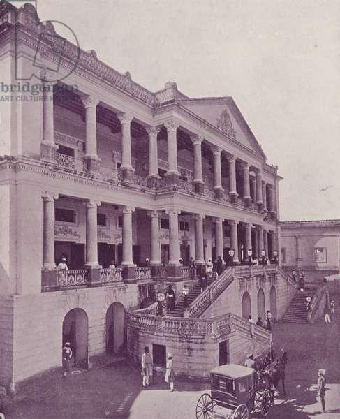 Faluknuma Palace, Hyderabad (b/w photo)