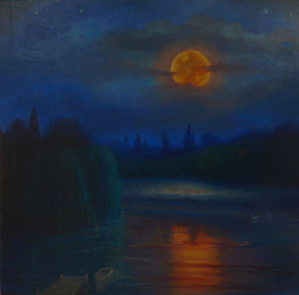 Nocturne, 2018, (oil on canvas)