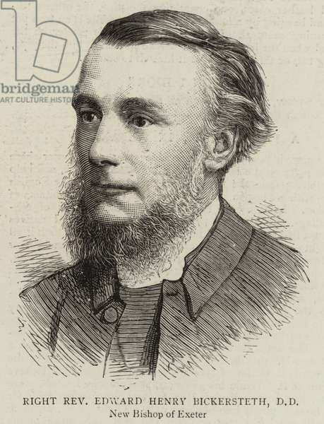 Right Reverend Edward Henry Bickersteth, DD (engraving)