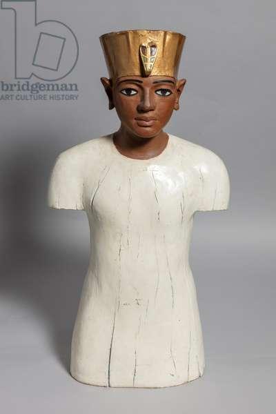 Replica Tutankhamun Bust, 1924 (wood)