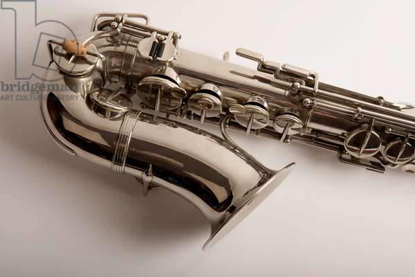 Alto saxophone with silver