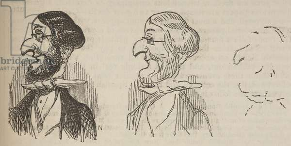 'Photographic Failures,' from Punch, or the London Charivari, Vol. 12, p. 142, 1847 (engraving)