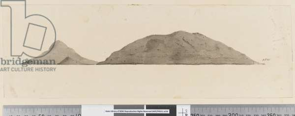 Page 25b/d Profile of unidentified island, 1768-75 (pen & ink and wash)