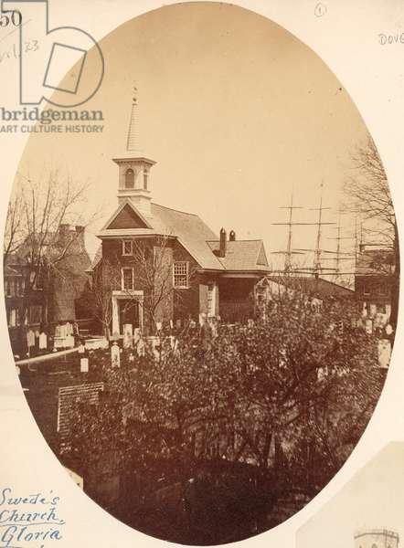 Gloria Dei (Old Swedes') Church, Swanson Street near Christian, Philadelphia, PA, 1854 (salt print)