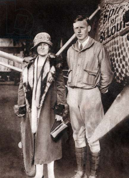 Charles Lindbergh with his mother
