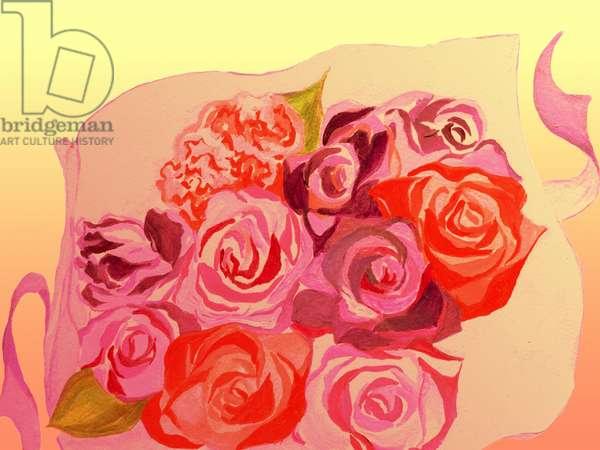 bouquet,2015,(Acrylic paint on paper,Photoshop)