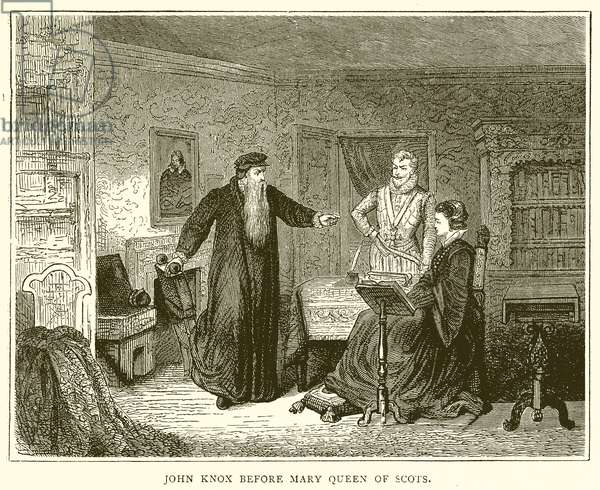 John Knox before Mary Queen of Scots (engraving)