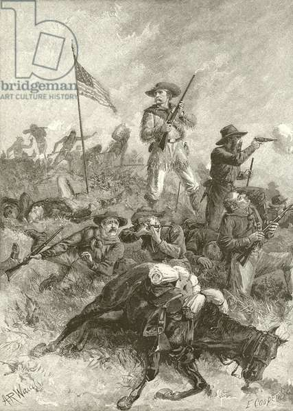 Custer's last fight (engraving)