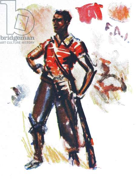 Anarchist militia soldier during the Spanish Civil War