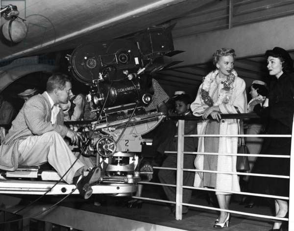 On The Set, Deborah Kerr And Donna Reed.